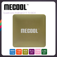 Wholesale Gold Wholesaler Online - S905X Ott TV Box Android 6.0 1GB Ram 8GB ROM Quad core 4K Media Player Mecool HM8 Miracast Airplay Online movies supported