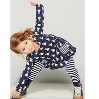 Wholesale Cute Fashion Baby Clothes - Baby Girl Clothes Cute Prine Long Sleeves Girls Dresses with Pockets Fashion Princess Dresses for Girls Clothing