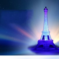 LED Night Light Torre Eiffel Luminoso Multi Función Una llave de control Brillante brillo romántico regalo lámpara decorar 6 2zh F R