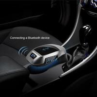 Wholesale Usb Adapter For Car Radio - Bluetooth Car Kit Wireless Fm Transmitter Radio Adapter FM Modulator Handsfree Music Mp3 Usb Player Audio For Smartphone free shipping