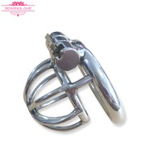Wholesale Male Penis Cages For Sale - 2017 cheap Sex toys for male chastity Cock Cage With Catheter urethral sound dilator Penis Lock Cock Ring for sale