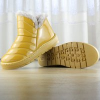 Wholesale Home Boots - 2016 Women Winter Snow Boots Warm Flat and Waterproo Non-slipf Ankle Boots Platform Home Shoes No-14
