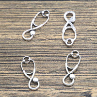 Wholesale Stethoscope Wholesale - 15pcs stethoscope Charms silver tone medical charm pendant 22X8mm