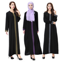Wholesale east ethnic clothes for sale - Women Long Ethnic Clothing Muslim Arab Dresses Solid Color Embroidery Traditional Fashion Mid East Islam Clothing TH902