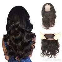 Wholesale Swiss Color - Brazilain Malaysian Body Wave 360 Lace Frontal 22X4X2 Swiss Lace Band Hand Tied Natural Color 100% Non-Remy Human Hair Lace Wigs 8-20 Inch