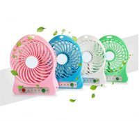 Wholesale Portable Personal Fans - NEW Home Mini Electrical Portable Fan Personal Rechargeable Power Bank Fan with LED Light USB Adjustable 3 Speeds Colorful Mini Fans Outdoor