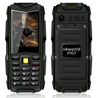 Wholesale Original V3 Cell Phone - Original Vkworld Stone V3 IP67 Waterproof Mobile Phone 5200mAh Battery Dual SIM Wireless FM Shockproof Cell Phone
