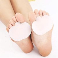 1 Pairs Front palm pad high heel pads before the soles of the feet pain foot pedal digital cushion medical silicone sleeve style apple pad