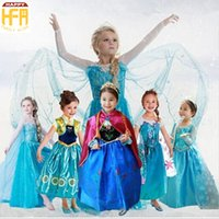 Wholesale Freeze Clothing - Halloween Costumes Party Clothing Kids Children Costumes Frozen Movie Princess Clothing Party Decorative Clothing For Girls Kids