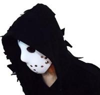 máscaras jason venda por atacado-máscaras do partido factoryprice 100g rosto cheio Branca Jason máscara pvc hóquei máscara para festival máscara de Halloween H55