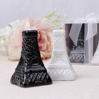 Wholesale halloween ceramic houses for sale - Group buy Eiffel Tower Wedding Seasoning Cans Salt and Pepper Shaker Ceramic Spice Jars Wedding Party Favor Gift Supplies New