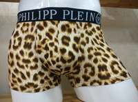 Wholesale Gold Boxer Briefs - 2017 Hot Brand PP Men's Underwear fashion men Modal boxer briefs Slim Breathable Underpants High quality men underwear colors Free shipping