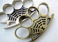 Wholesale 5pcs Spider Web Thick Joints Knuckle FAT BOY RENEGADE THICK BLACK BRASS KNUCKLE DUSTERS