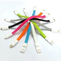 Wholesale Wholesale Flat Magnet - Magnet 1m Micro Flat Noodle USB Charger Cable V8 Cord For smartphone Galaxy S4 S3 S5 Note 2 3 HTC Blackberry