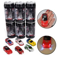 Wholesale Mini RC Racing Car Coke Zip top Pop top Can CH Radio Control Vehicle LED Light Colors Toys for Kids