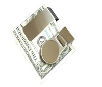 Wholesale DIY Blank Money Clip Credit Card Holder Silver Stainless steel Money Wallet Clip Clamp Card Holder DHL FEDEX