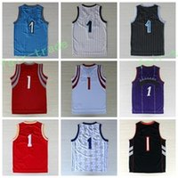 Wholesale Flash Player Best - Best 1 Tracy McGrady Jersey Throwback Shirt Rev 30 New Material Uniforms Retro Team Road Black Blue White Red Purple With Player Name