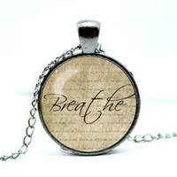 Wholesale Wholesale Word Necklaces - 10pcs lot Faith Necklace, Word Pendant, Inspirational Jewelry Glass Cabochon Necklace