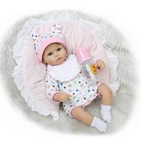 Wholesale Life Like Silicone Dolls - 17Inch Dolls 45cm Silicone Reborn baby Dolls life like reborn baby dolls Reborn Babies Toys for children