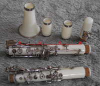 17 Clarinet Bb Wholesale-New Bb Clarinet White Color 17 Keys