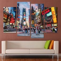 New York Buildings, 4 Pezzi Decorazione domestica HD Printed Modern Painting su tela (Unframed / Framed)