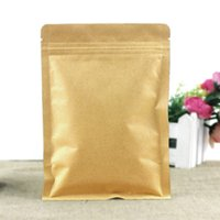 Wholesale Dried Food Fruit - Kraft Paper Flat Bottom Valve Bags  Dried Fruits Food Tea Pouches  Recloseable Yellow Kraft Pack Bags Inside Aluminum Foil