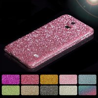 Wholesale Decorations For Phone Cases - Full Body Wrap Film Cover Bling Diamond Glitter Skin Sticker Case Phone Decoration 10 Colors For Samsung S5 6 7 S8 S8 plus