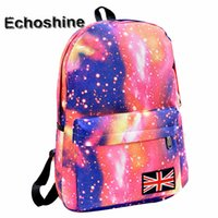 Wholesale trend travel school bag - Wholesale- Hot sale Galaxy Pattern Unisex Travel Backpack Canvas Leisure Bags School Bag Youth Trend school Starry sky backpack