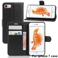 Wholesale Colorful Pu Leather Wallet - Stand Flip PU Leather Wallet Case For iphone 7 7plus 6 6s plus 5s SE Colorful Mobile Phone Bags Cover with Card Slot