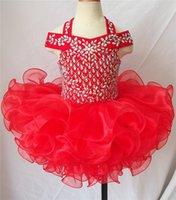 Wholesale Orange Cupcake Skirt - 2017 Off the Shoulder Flower Girl Dresses Girls Glitz Pageant Infant Toddler Communion Dress Cupcake Mini Skirt Sparkly Design