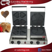 Wholesale hot professional stainless steel commercial electric waffle cone maker waffle machine V with custom plate CR WM557