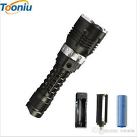 Wholesale Military Grade Flashlights - LED Diving Flashlight Torch 5000LM CREE XM-l2 Underwater 120m Brightness Waterproof LED Torch Military grade flashlight .