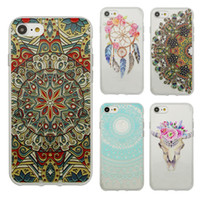 Wholesale Tribal Silicone Iphone Case - New Arrival Tribal Transparent Cover Phone Case For Iphone 7 7Plus 6 6plus 5 5s High Quality Silicone TPU Gel Case