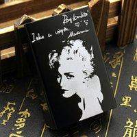 Wholesale Electronic Cigarette Alloy Case - Wholesale- Aluminium Alloy The Fans Of Madonna Queen Of Pop Music Creative Souvenir Collection Smoking Gift For Woman Black Cigarettes Case