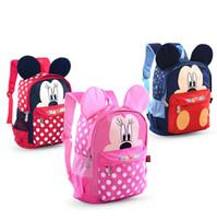 Wholesale Girls Bag For Children - Sun 8 #859 Kindergarten Primary School Kids Backpacks Children School Book Bags Red Blue Pink Mini Mouse for 2-6 Years old Boy girl