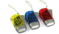 led ışıklar ücretsiz toptan satış-Yeni protable 3 LED Dinamo Wind Up El Feneri Torch Işık El Basın Krank NR Kamp Ücretsiz Hızlı DHL Kargo