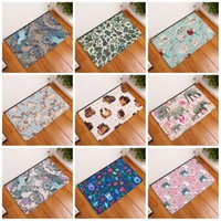 Wholesale elephant bathroom - Originality Plant Footcloth Water Uptake Rug For Home Bedroom Suppies 3D Elephant Printing Bath Mats Non Slip 9 8xrd C