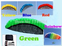 Wholesale Power Surf - high quality 2.5m dual line stunt power kite surf with control bar and line easu control so exciting outdoor toys