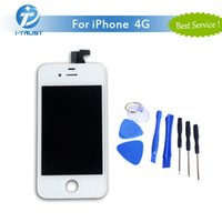 Wholesale Iphone Tools Best - A+++ Quality No Dead Pixel For iPhone 4 4G LCD Display Best Repair Replacement Parts+ Repair Tools With Free Shipping