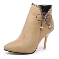 Wholesale Cheap Sexy Ankle Boots - Cheap Women Boots With Heels Online Fashion Ladies High Heels Pumps Shoes Sale Sexy Female Evening Footwear Amazing Girls Dress Outlet Order