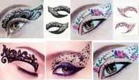 Wholesale Temporary Eye Decorations - Fashion Charming Eye Art Tattoos Temporary Stickers Colourful Eye Rocks Liner DIY Decorations Eyelid Makeup Tools