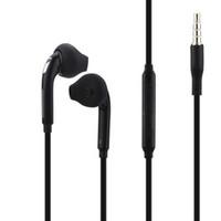 Wholesale Cell Headphone Plug - Plug 3.5mm Headset with Premium Stereo Earphones for Samsung Galaxy S4 S5 S6 S7 Edge EO-EG920LW Cell Phone Headphones RJS61