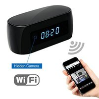 Wholesale Time Clocks Wifi - HD 1080P Wifi Camera with Time display Electronic Clock DV Camcorder P2P Motion Detection Mini IP Camera Video Recorder For Free Shipping