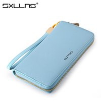 Wholesale Womens Large Wallets - Sxllns Ladies Large Capacity Clutch Bags Brand Women Leather Fashion Wallet Womens Wallets And Purses Free Shipping