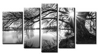 Wholesale Contemporary Pictures - YIJIAHE Painting Modern Wall Art,Black and White Tree Print on Canvas,Contemporary Framed Artwork for Living Room Bedroom Decoration