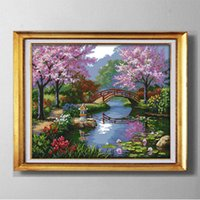 Wholesale Park Tools Kit - The beautiful scenery of Park , Europe style Cross Stitch Needlework Sets Embroidery kits paintings counted printed on canvas DMC 14CT  11CT