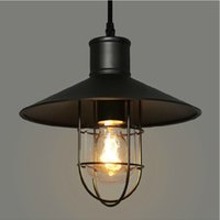 Wholesale Round Chandelier Shades - rustic pendant lights vintage style pendant lamps rounded metal lamp shade Kichler pendant lighting Linear Suspension Lighting black color