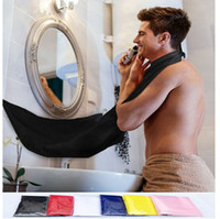 Wholesale Wholesale Fashion Trim - 2016 New Fashion Man Bathroom Beard Bib High-Grade Waterproof Polyester Pongee Beard Care Trimmer Hair Shave Apron 120*80cm F816-2