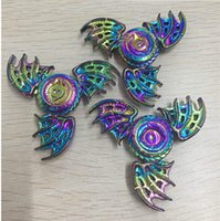 Wholesale Eagle Plastic - Newest Rainbow Colors Metal Flying Fish Eagle eye Dragon Wing Fidget Spinners Decompression Anxiety Toys EDC Fidget Toys