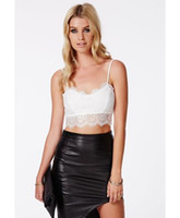 2017 donne di vendita diretta Camis Xl Sexy Bustier Estate in pizzo Crop Top, estate Style Fashion Lady Womens Top Tank Bra Corsetto maglia all'ingrosso
